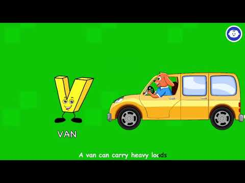 V Letter   ABC Song   Learn ABC For Kids