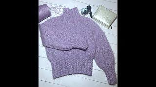 Свитер Нежная Лаванда| Красивый свитер спицами