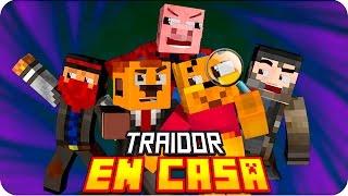 TRAIDOR EN CASA! | Murder in Minecraft - Sarinha, Macu, Gona, Exo y Luh