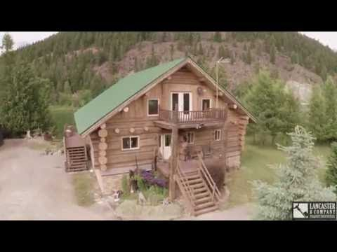 Spectacular Log Home For Sale Libby, MT Along The Kootenai River