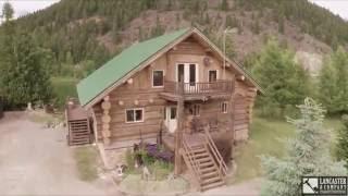 Spectacular log home for sale Libby, MT along the Kootenai river