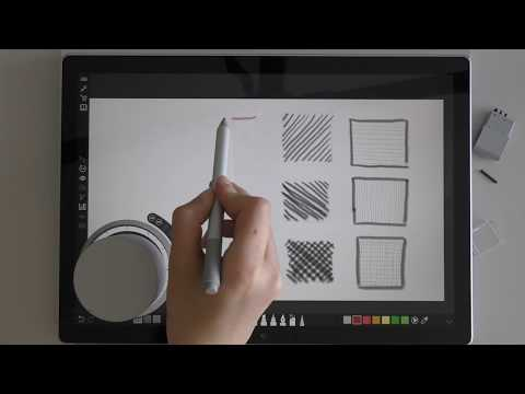 Drawing With Surface Book 2 #1: Experimenting With Microsoft Surface Design Tools