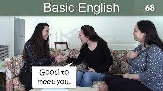 Lesson 68 👩🏫 Basic English with Jennifer 🤝 Introductions
