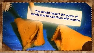 Virtual Fortune Cookie Quotes - You should respect the power of words