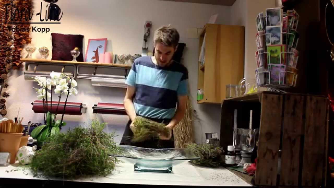Orchideen Kreation in eine Glasschale selber machen  YouTube
