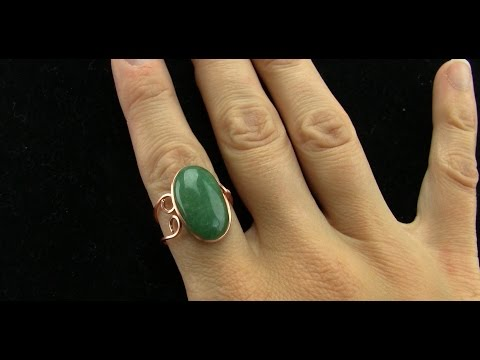 Very Basic Wire Wrapped Adjustable Grooved Cabochon Ring Tutorial Beginner