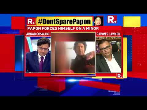 Papon's Lawyer Speaks To Arnab Goswami Over Kiss Controversy