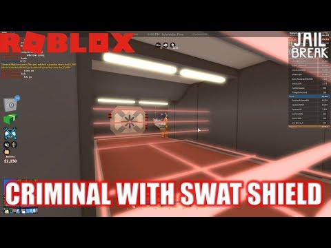 Roblox: JailBreak: Use SWAT Shield as a CRIMINAL!