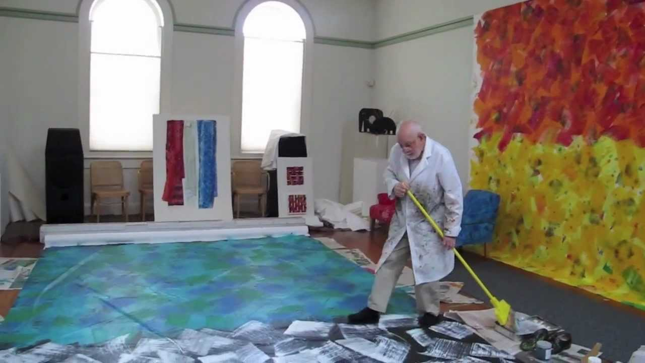 Eric carle painting youtube for Creating a mural