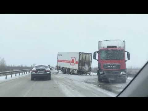 ДТП фура и автобус, Тюмень Ханты-Мансийск, 231 км, 24-11-2019