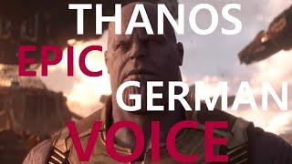 Thanos epic german voice by Klaus-Dieter Klebsch