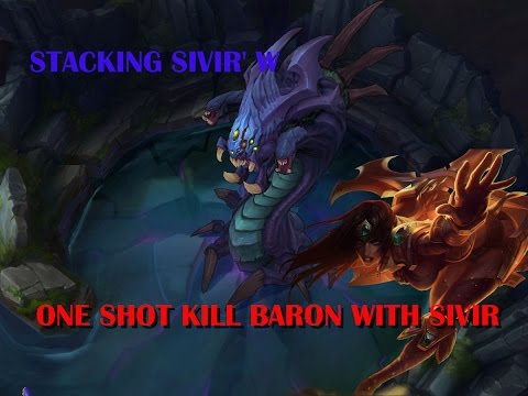 League of Legends: One shot kill Baron with Sivir's W