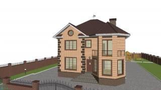 Проект двухэтажного дома на 4 спальни C-105-ТП