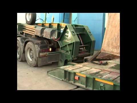 Полуприцепы с передним заездом (detachable Gooseneck) для гусеничной техники от 25 до 80 тонн