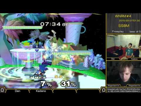WNRM#4 | Kadano (Marth) vs. Dan (Fox), Levy (Fox,), Wegenbartho (Jigglypuff) | Melee Freeplay