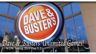 Dave & Busters Unlimited Chicken Wings & Games! | Disney Character Warehouse | Day 5.2