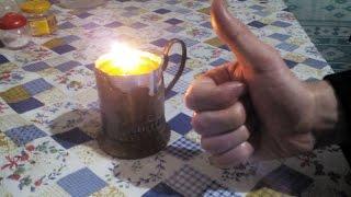 Самодельная свеча ( Безопасный вариант) 2016 часть 1