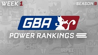 GBA Season 9 Week 1: Power Rankings