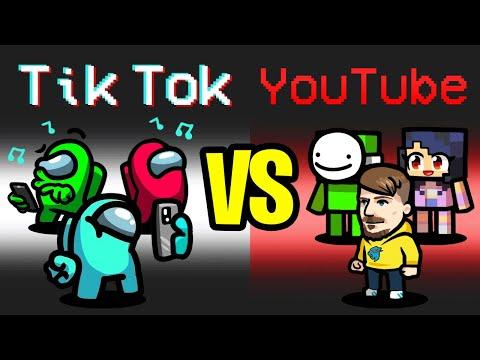 TIKTOK vs YOUTUBER Mod in Among Us