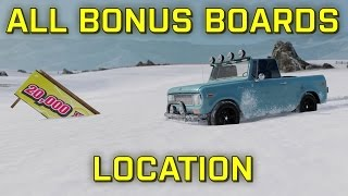 Blizzard Mountain  - ALL BONUS BOARDS LOCATION (XP BOARDS) [Forza Horizon 3]