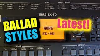 KORG EK-50 Ballad Styles Demo