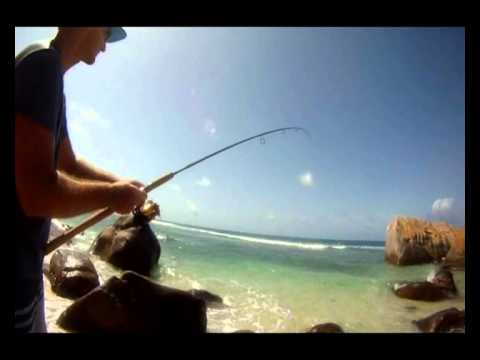 RockFishing a Mahé   Seychelles Island