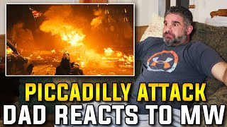 """Dad Reacts To """"Piccadilly Attack"""" Mission In Modern Warfare"""