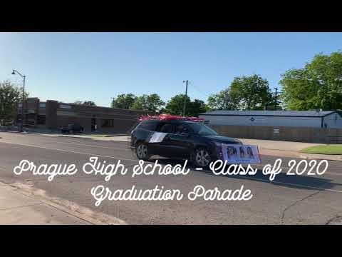 PRAGUE HIGH SCHOOL GRADUATION PARADE 2020