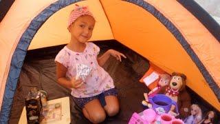 yeni kamp adrmz baheye kurduk maa kocaay barbie ile piknik oyunu oynadk