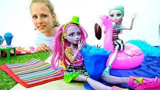 Вечеринка Монстер Хай на пляже - Мультики для девочек