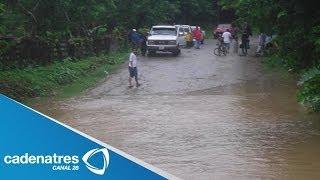 Río Coatzacoalcos de Veracruz se desborda tras la lluvias del frente frío número 12