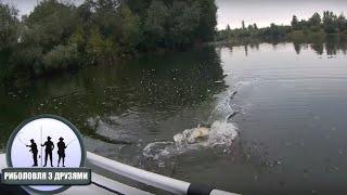 Рибалка на міському Озері в місті Коломия