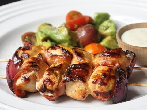 Bacon Ranch Chicken Skewers - Grilled Bacon Chicken Skewers
