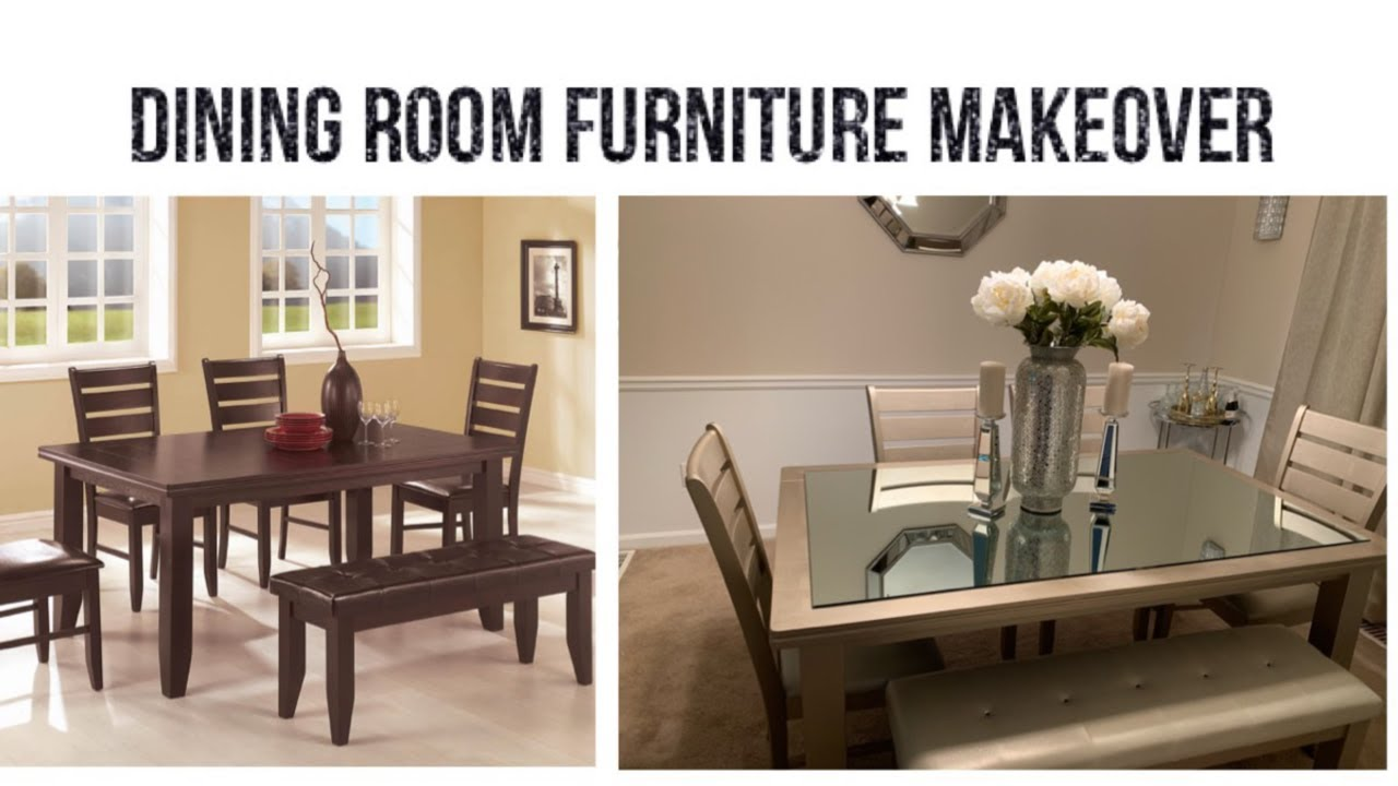 Furniture Transformation || 💕Dining Room Furniture Makeover || Easy &  Inexpensive💕