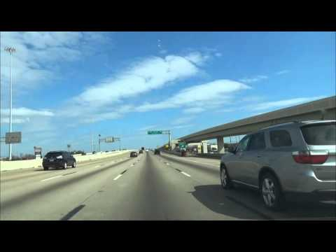 Driving I-610 from I-10 to Highway 59 North @ FM 1960 in Houston