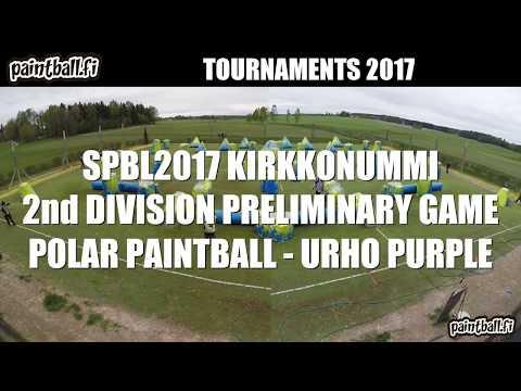 Polar Paintball vs Urho purple - SPBL2017 Kirkkonummi