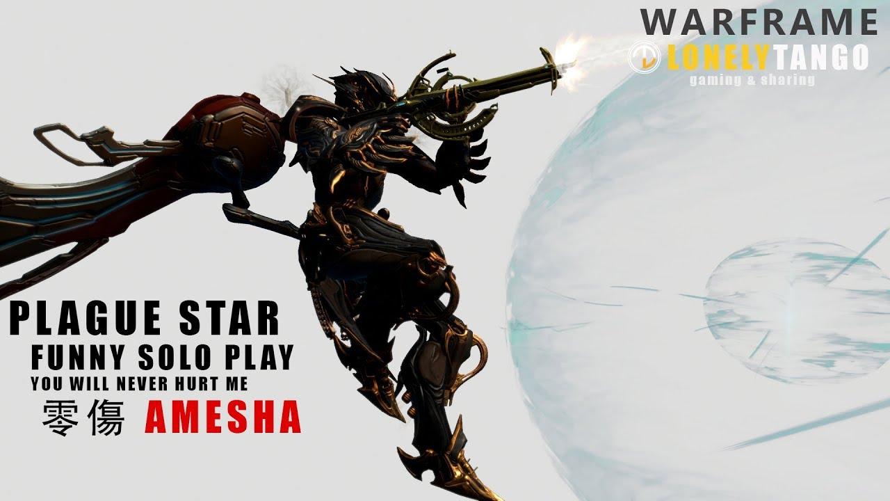 WARFRAME | 零傷AMESHA對戰瘟疫之星BOSS戰 - Plague Star Funny SOLO ...