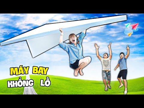 Hà Sam Thử Thách Làm Máy Bay Khổng Lồ Bay Cao Vút - Largest News Paper Airplane