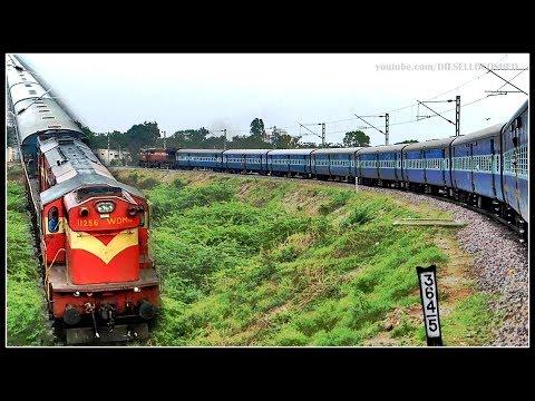 JOURNEY Through the NALLAMALA GHATS - GUNTAKAL GUNTUR   PART 1   Indian Railways