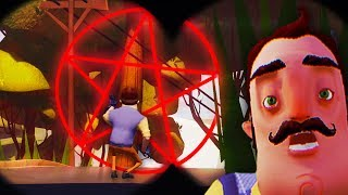 HELLO NEIGHBOR SECRET ANIMATIONS DISCOVERED!?! (Hello Neighbor Beta / Hello Neighbour Alpha 4)