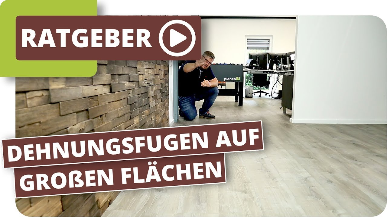 vinylboden dehnungsfuge gro e vinylboden fl chen auf einer fu bodenheizung verlegen youtube. Black Bedroom Furniture Sets. Home Design Ideas