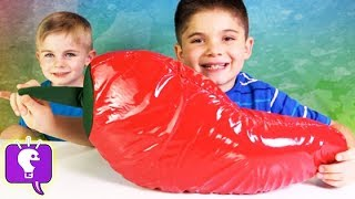 Worlds Biggest Chili Pepper Surprise! Boogers, Toys + Candy, Chips n