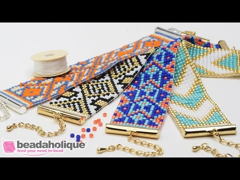 How to Make the Beaded Loom Bracelet Kits by Beadaholique