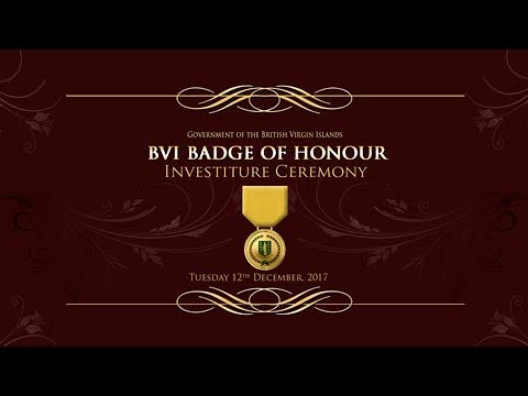 BVI Badge Of Honour Investiture Ceremony