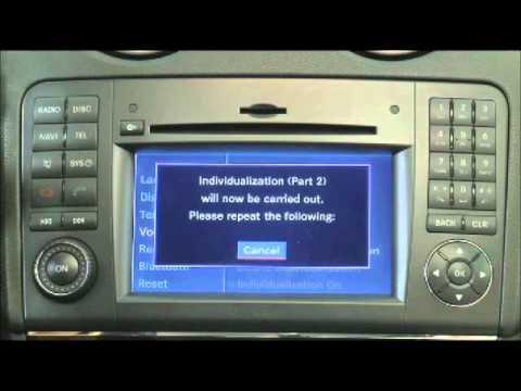 Mercedes-Benz Instructional : Voice Control Individualization GL M R CLS SLK SL-Classes