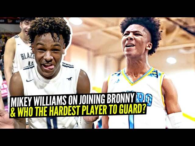 Mikey Williams + LeBron James Son Bronny  may play on same team?