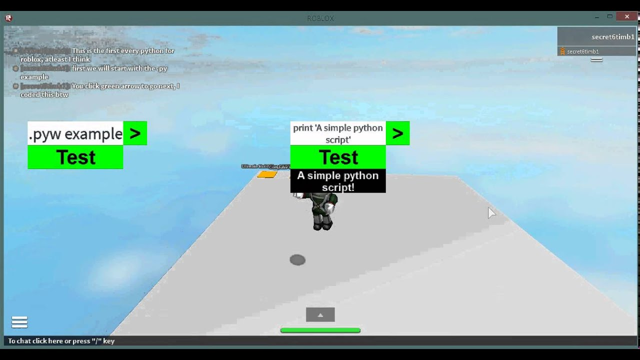 Python for roblox exploit 2/28/15 Run python and lua in