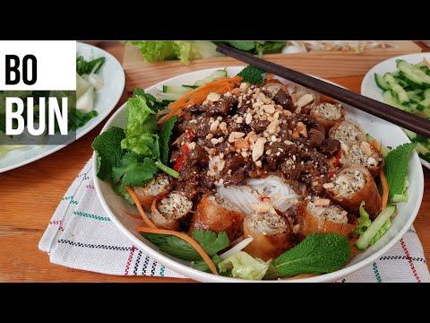 โบบุ้น อาหารเวียดนาม (Bò bún ) - ໂບບຸ້ນອາຫານຫວຽດນາມ - Bò bún au bœuf (FRA SUB)
