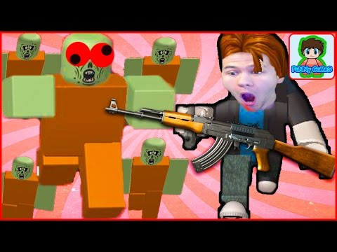 Стрелялки по зомби Roblox  майнкрафт против зомби 3 Роблокс от Фаника