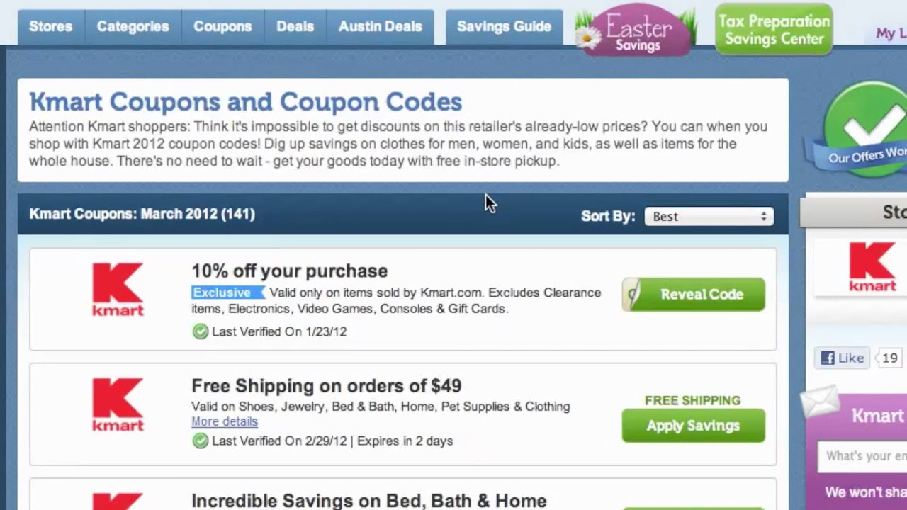Kmart Coupons How To Use Kmart Coupons Coupon Codes